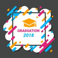 Graduation Card Template Vector