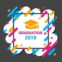 Vector de plantilla de tarjeta de graduación