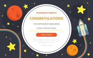 Kleuterschool Diploma certificaatsjabloon