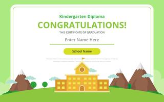 Modelo de certificado de diploma de jardim de infância