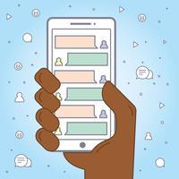 Aplicación de mensajes de texto de Smartphone