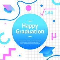 Graduation Greeting New Memphis Vector