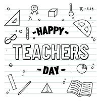 Glad Teacher Day Notebook Vector