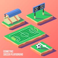 Vecteur de terrain de jeu de football isométrique