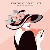 Kentucky Derby Hats Illustration