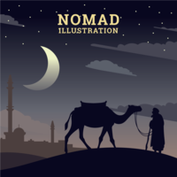Nomaden illustratie