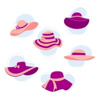 Sombreros Kentucky Derby Set Vector