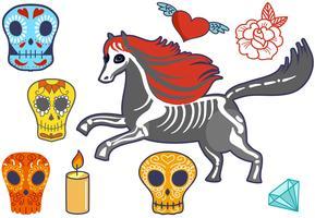Vetores Dia de Muertos