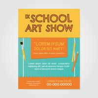 School Art Show-uitnodiging