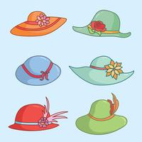 Kentucky Derby Hats On Blue Vector
