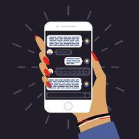 Aplicativo de mensagens de smartphone