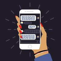smartphone texting app