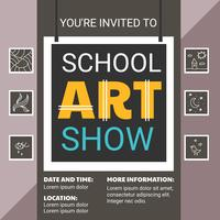 School Art Show Flyer Template