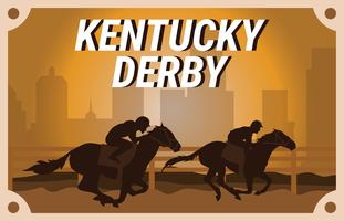 Clip art de la postal de Kentucky Derby