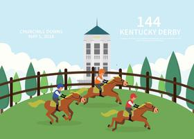 Illustrazione di cartolina di Kentucky Derby