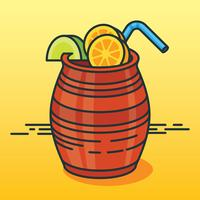 Cantaritos Cocktail Illustration