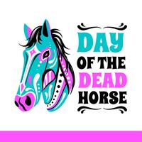 Jour du vecteur de cheval mort