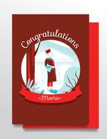 Graduation Card Vector Design