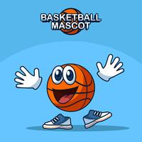 Smiling Basketball Mascot Vector