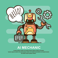 Ai Mechanic Illustration