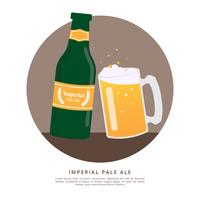 Imperial Pale Ale Beer Vector Illustration