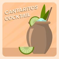 Flat Cantaritos Cocktail Vector Illlustration