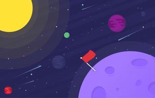 Vektor tecknad rymdillustration