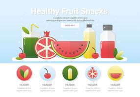 Vector frutas sanas frescas