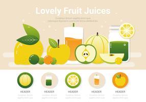 Vektor frische gesunde Smoothies