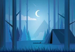 Blue Forrest Landscape Background vector