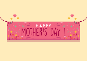 Mothers Day Banner Vector