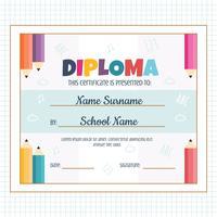Kleuterschool Diploma Vector
