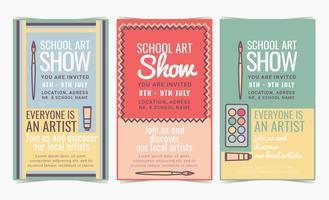 Vektor Schule Kunstausstellung Poster
