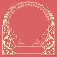 vector de marco ornamental art nouveau