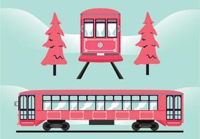 nuevo diseño de vector de tranvía de orleans