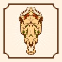 Dibujado a mano Día de los muertos ilustración vectorial de caballo