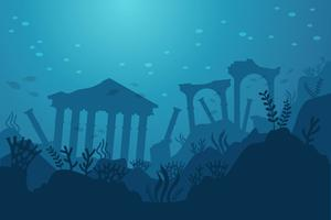 Ciudad de Atlantis Vector