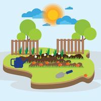 Ilustração de jardim vegetal