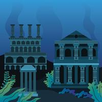 The Lost City Atlantis Clip Art