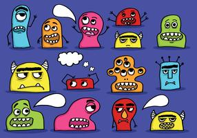 cute monster heads vector