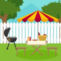 barbecue de jardin Vector