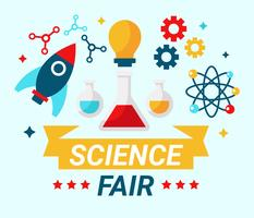 Science Fair-Konzept-Vektor