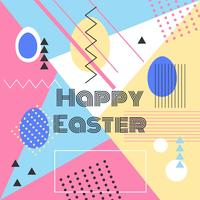 Happy Easter Memphis Background