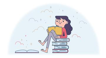 Books Lover Vector