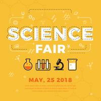 cartel de ciencia justa vector