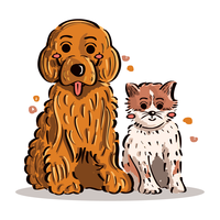 Puppy and Kitten vector