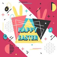 Buona Pasqua Memphis Vector