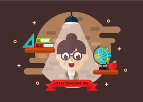 Teachers Day Vector