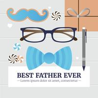 Vector Fathers Day Greeting Card