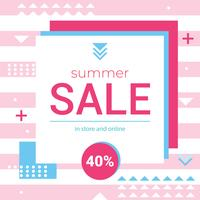 Vector Summer Sale Memphis Banner